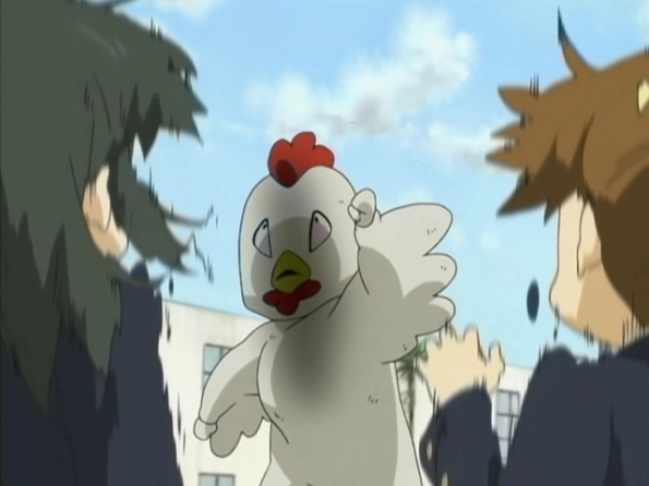 K-ON! ep 8 K-on! yui in a chicken suit